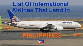 List Of International Airlines That Land In PHILIPPINES  [2018]