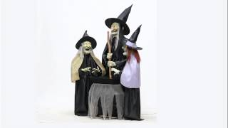 Sitchwick Sisters witches Animated halloween props 2015