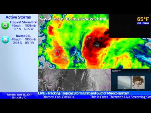 Tropical Storm Bret Live Coverage (June 20, 00:00 UTC)
