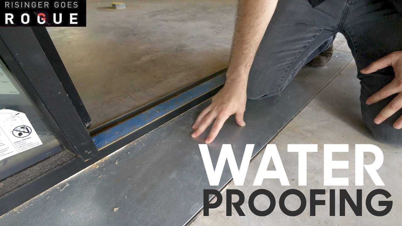 Waterproofing Flashing A Concrete Slab To Porch Youtube