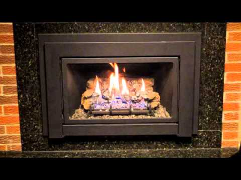 National Home Comfort Toronto showroom display of Gas fireplace insert