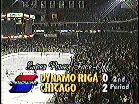 Blackhawks-Dynamo Riga, Jan. 4, 1989 (second period)