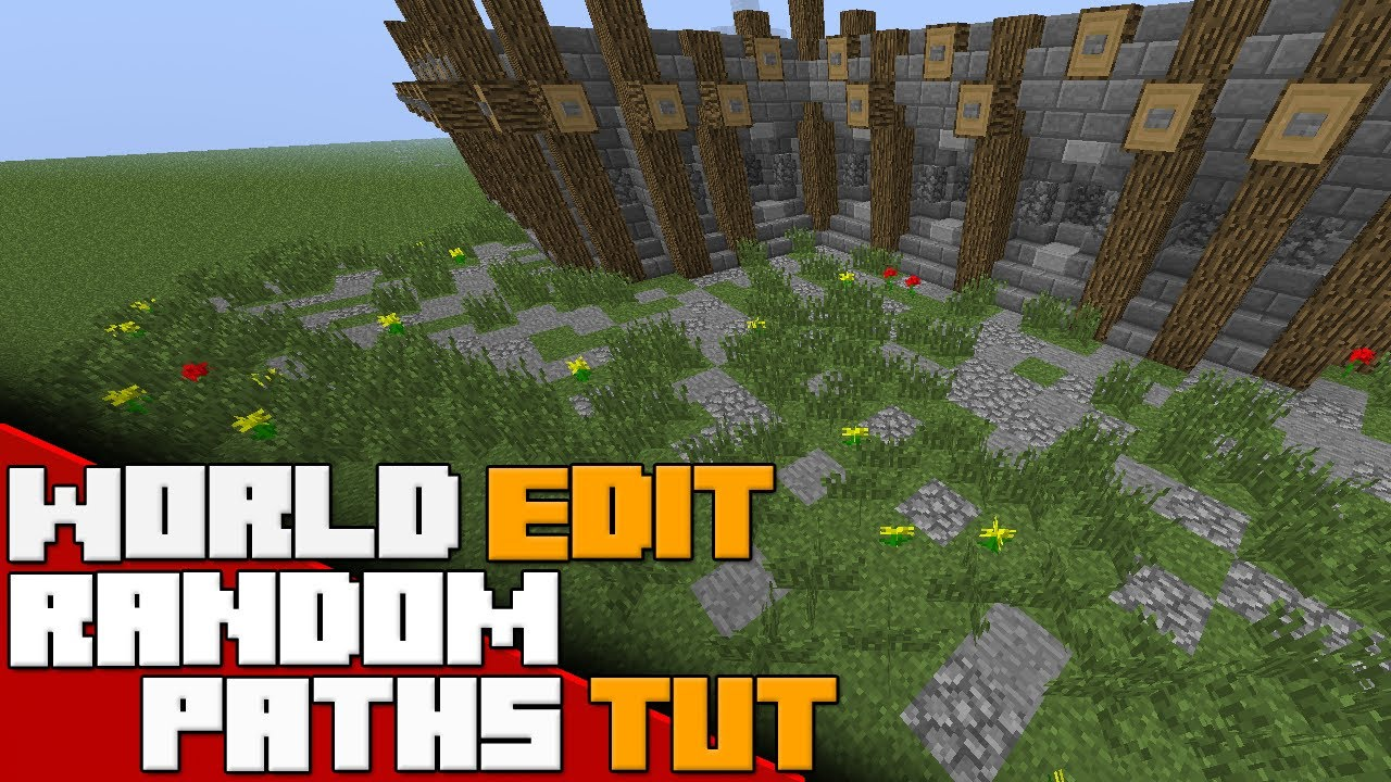 Minecraft  World Edit Tutorial  Randomized Paths with