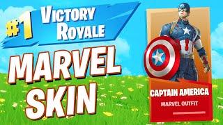 'NEW' CAPTAIN AMERICA Skin! Fortnite Captain America)