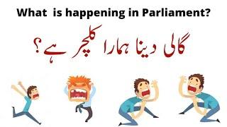 Gali Deena Humara culture hy? :  What is happening in Parliament? | Prof Dr Javed Iqbal |