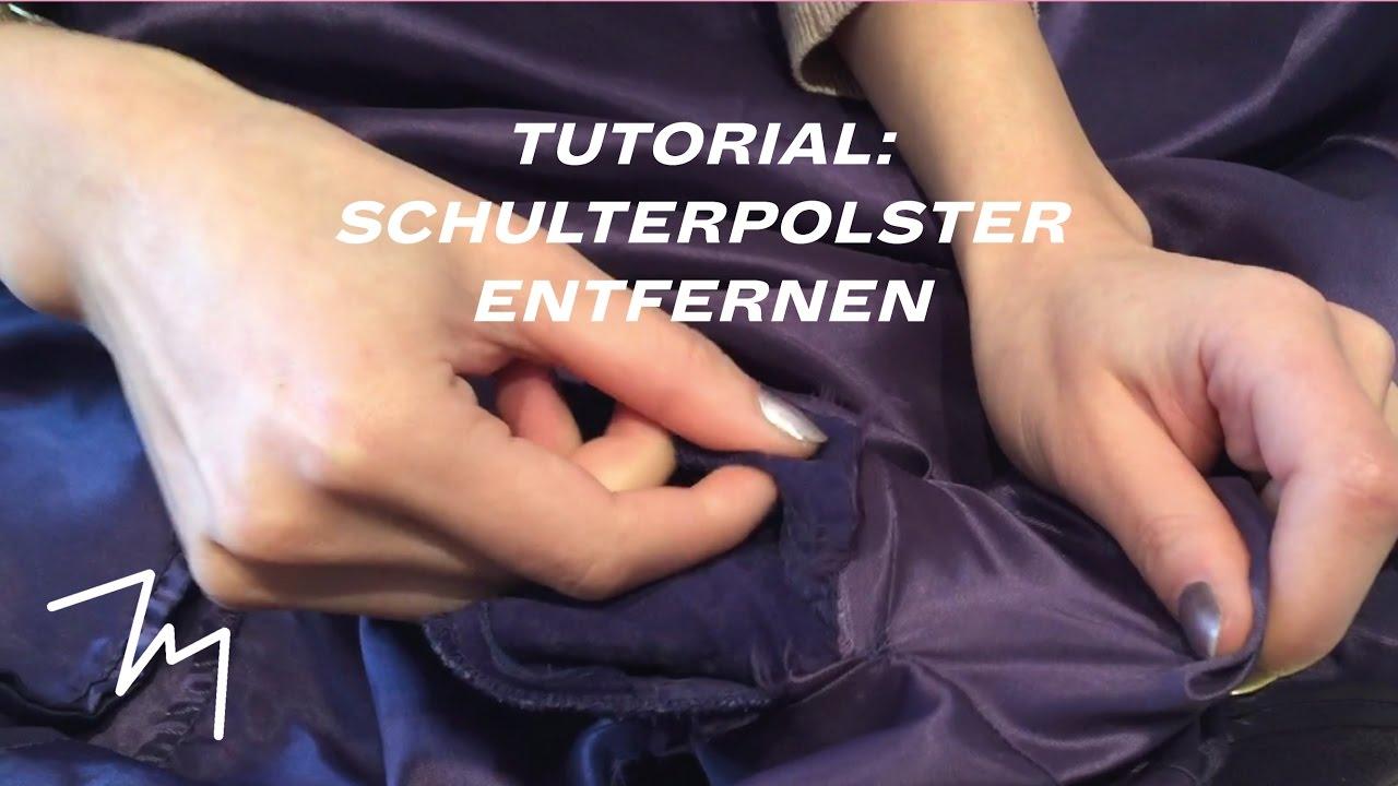 Schulterpolster entfernen bzw. Schultern anpassen