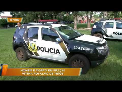 Homem é morto a tiros em praça de Rolândia, no Paraná