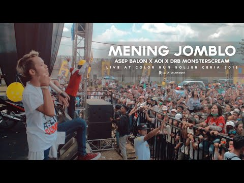 Asep Balon X Aoi X DRB - Mening Jomblo (Live at Color Run Soljer Ceria 2018)