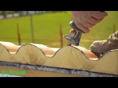 Paltrav copertura in pannelli finto coppo youtube for Lamiera finto coppo