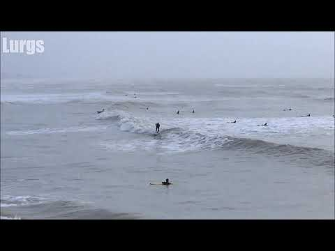 Surfing Southwick New Beach and Shoreham Harbour Dec 30th 2017