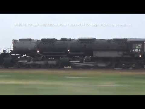 Union Pacific 4014 @ 75mph Time lapse