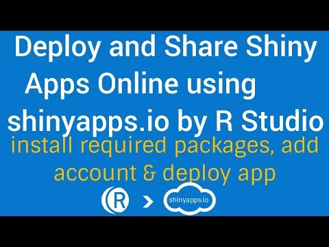 R Shiny Apps Tutorial   Deploy & Share Shiny Apps online   install