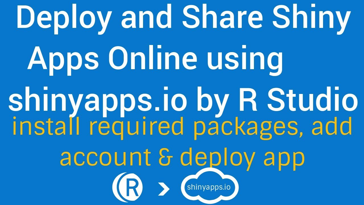 R Shiny Apps Tutorial | Deploy & Share Shiny Apps online | install required  packages and publish app
