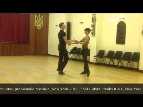Intermediate Cha-Cha routine - Inspiration 2 Dance London