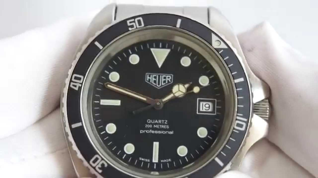 Divers Watch Heuer Diver Vintage 980.006 - Youtube