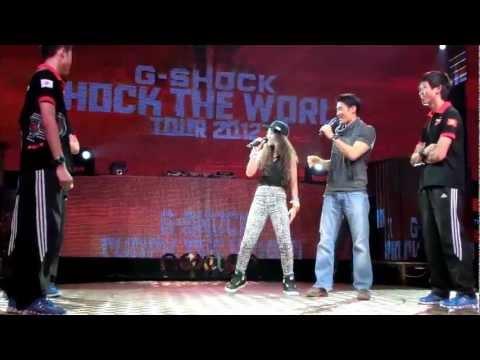 JAPAN CASIO  Johnny Trí Nguyễn Hiệu suất Kung Fu - Shock The World Tour 2012 in Hanoi