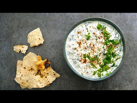 recette-indienne-raita-d'epinards-(palak-raita)-₪-pankaj-sharma