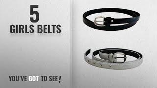 10 Best Girls Belts 2018 Best Sellers Krystle Girl 39 s Combo Set Of 2 PU leather belts Black amp