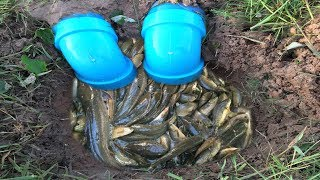 Awesome!! Smart Man Catch A Lot Of Fish By Creative Deep Hole Fish Trap With Plastic Pipes