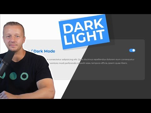 Creating A Dark \u0026 Light Toggle Mode On Your UI Designs