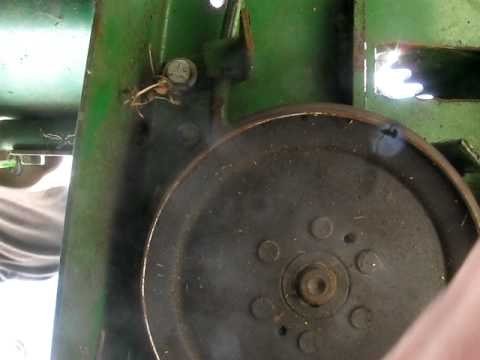 belts on the john deere r70  YouTube