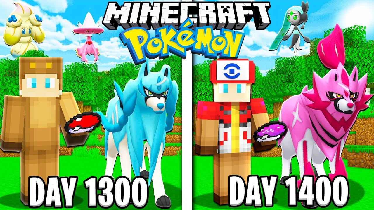 I Survived 1400 Days of Minecraft POKEMON!