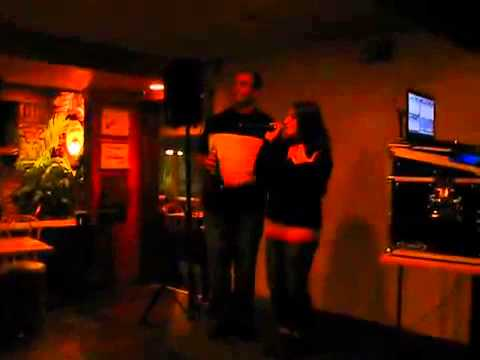 David Habit @ The Crab's Claw Inn   Karaoke 2012    Dave and Jen Leigh