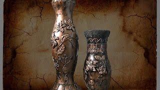 Ваза из картона своими руками. Cardboard vase with own hands