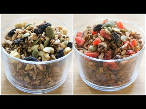 oil-free---stovetop-granola-recipe---2-ways---healthy-oats-recipe-for-weight-loss---skinny-recipes