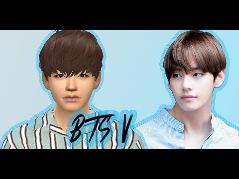 The Sims 4 - CAS Taehyung (V) of BTS