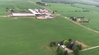 Aerial view of Sheboygan Falls plane crash