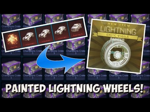 MORE PAINTED LIGHTNING WHEELS! | BEST ROCKET LEAGUE IMPORT TRADE UP AND 50+ CRATE OPENING
