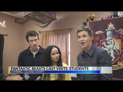 Fantastic Beasts cast visits school in Cullman County