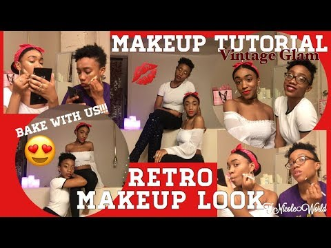 Retro Classic Makeup Look✨😍// VINTAGE GLAM vs. EARLY HOLLYWOOD