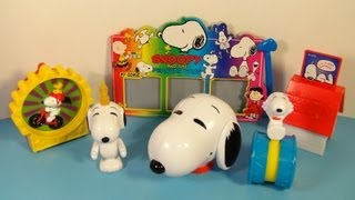 1998 SNOOPY and THE PEANUTS GANG SET OF 6 WENDY