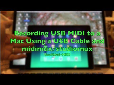 Application Note #8: Direct USB MIDI using midimux/studiomux