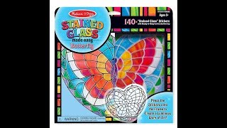 Melissa & Doug STAINED GLASS Sun catcher Craft Kit Review - Worth it?