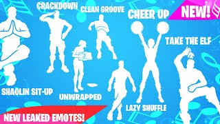 Fortnite | **NEW LEAKED EMOTES** Crackdown, Lazy Shuffle, Take The Elf, Cheer Up... [COMING SOON]