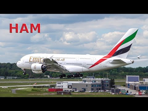 4K | Planespotting Hamburg Airport Heavy Traffic | 2x Emirates A380 | Low Approach LH A320 And More…