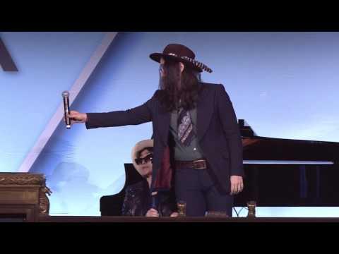 """NMPA 2017: Yoko Ono and Sean Lennon accept the Centennial Song Award for """"Imagine"""""""