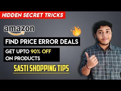 Amazon/flipkart secret tricks to find sasti/price error deals   Get upto 90% off sasti shopping tips