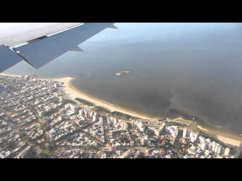 Landing in Montevideo. AA989, 767-300, Seat 34J.