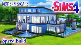 Sims 4 House Build: Modern Escape Family Home With Pool & Basement