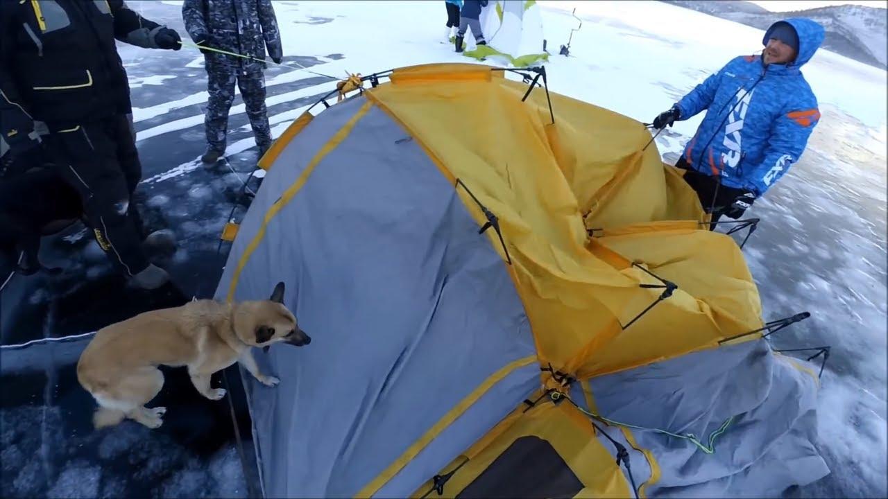 Рыбалка на Байкале зимой - Попали под ураганный ветер Сарма!