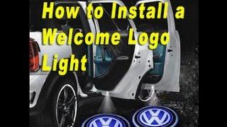 How To Install Door Welcome Logo Lights