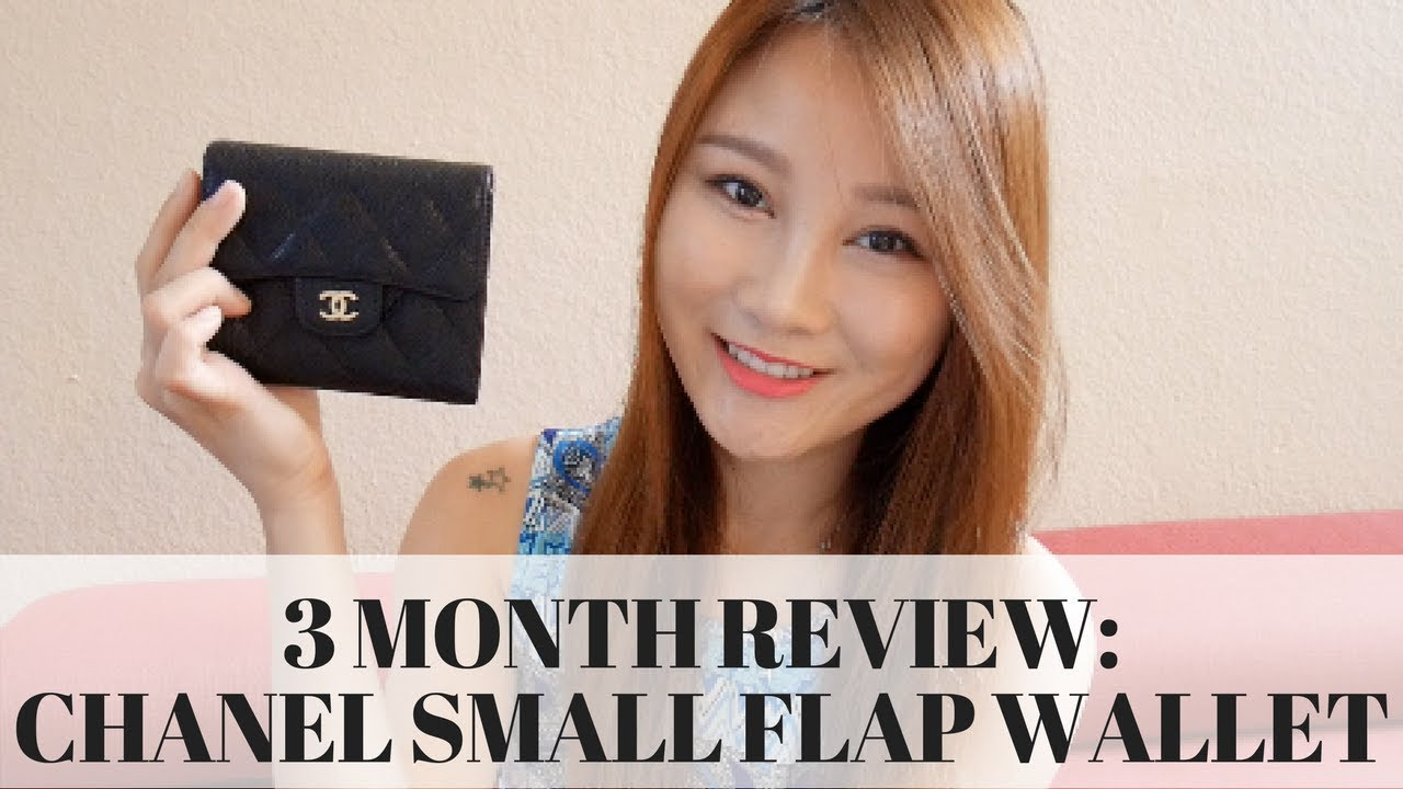 6bbb5304754c CHANEL SMALL FLAP WALLET 3 MONTH WEAR AND TEAR REVIEW | Cherry Tung ...