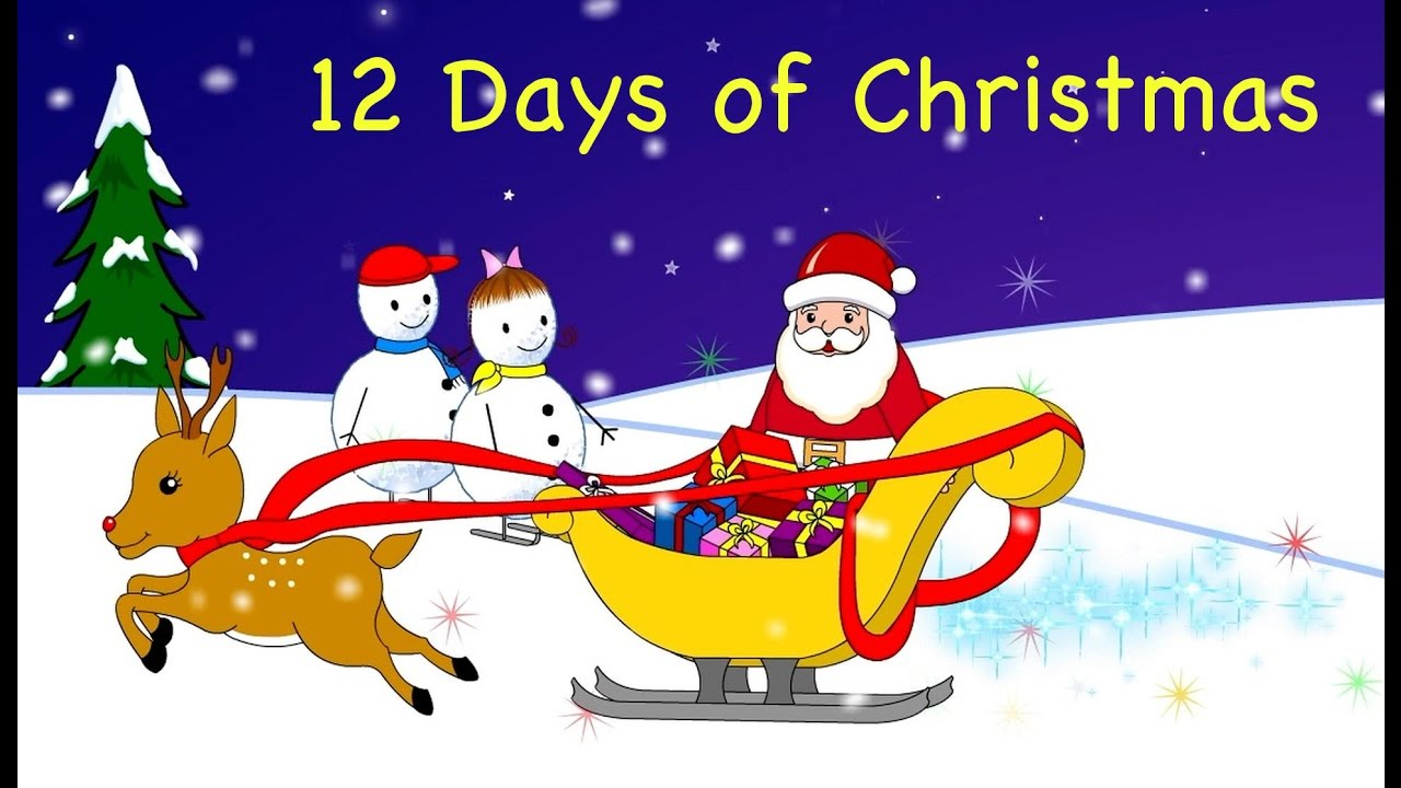 12 days of Christmas song for kids | Xmas Songs - YouTube
