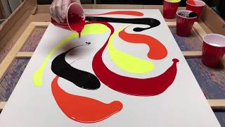 Fluid Painting to the Extreme!! Dude uses a 2 feet Squigee to Swipe Cells!! You gotta see this!!