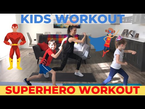 Kids Workout At Home | Superhero Workout For Kids