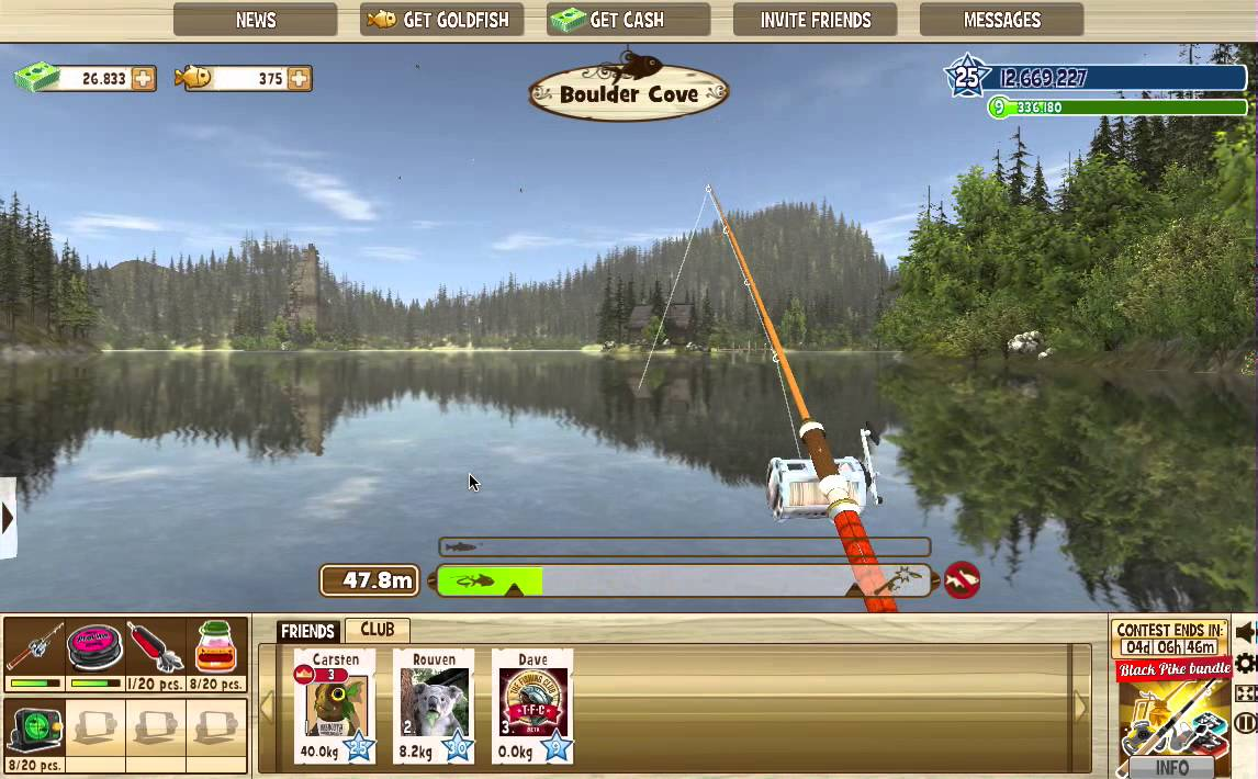 Catching a giant trout in the fishing club youtube for The fishing club 3d